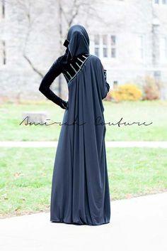 Latest Hijab Abayas Fashion Black Ice Winter Collection 2012-2013