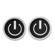 """""""On Button"""" Cufflinks makes a great teacher gift or for any tech geek!"""