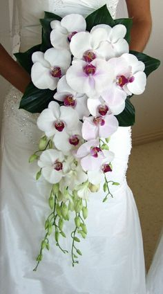 Wedding bouquet - choose the most important bridal accessory! Maui Weddings, Island Weddings, Hawaii Wedding, Wedding Bride, Floral Wedding, Dream Wedding, Wedding Day, Wedding Ceremony, Lily Bouquet Wedding