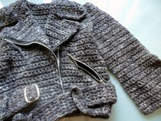 Crochet biker jacket. Awesome