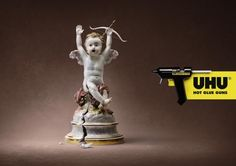 """Uhu Glue: """"CUPID"""" Outdoor Advert by Kolle Rebbe, Hamburg   Creative Advertising & Commercials Archive. Awarded Ads database"""