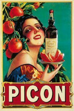 Vintage Poster Vintage Apple Collection Premium Thick-Wrap Canvas Wall Art Print entitled Picon Liqueur - Vintage Beverage Advertisement, None - Retro Poster, Poster Ads, Poster Prints, Wine Poster, Vintage Advertising Posters, Vintage Advertisements, Vintage Posters, Print Advertising, Pub Vintage