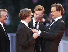 John Hurt, Gary Oldman, Benedict Cumberbatch & Colin Firth