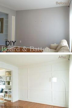 Trendy Home Improvement Living Room Board And Batten Ideas Family Room Walls, Family Room Design, Home Renovation, Home Remodeling, Board And Batten, Living Room Tv, Dining Room, Trendy Home, Home And Deco
