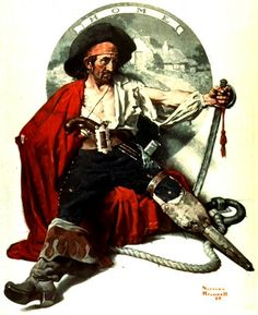 Pirate by Norman Rockwell http://www.wikipaintings.org/en/norman-rockwell/forgotten-facts-about-washington