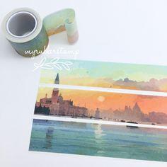 Sunrise Scenery Puzzle Washi Tape