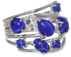 Sterling Silver Lapis Multi-Stone Ring, Size 7 Amazon Curated Collection,http://www.amazon.com/dp/B003E7EQ8S/ref=cm_sw_r_pi_dp_-l6.rb0AA298V980