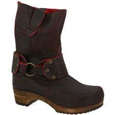Sanita Hunter Mohawk Waxed Leather Wood Boot in Red
