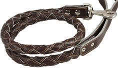 4-thong Round Fully Braided Genuine Leather Dog Leash, 43' Long 1' Wide Cane Corso, Mastiff, Great Dane >>> More info could be found at the image url.
