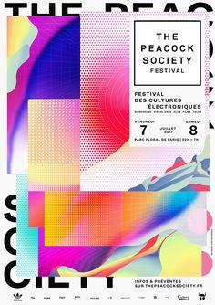 Peacock Society Festival Identity by Atelier Irradié https://mindsparklemag.com/design/peacock-society-festival-identity/