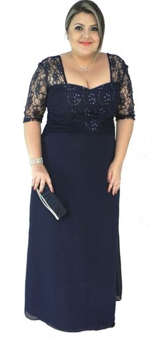 vestidos para madrinha de casamento plus size - Pesquisa Google Cheap Dresses, Plus Size Dresses, Plus Size Outfits, Formal Dresses, Plus Size Prom, Plus Size Tops, Modelos Plus Size, Mom Dress, Beautiful Gowns
