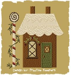 Gingerbread House 2-Version 1-4x4-INSTANT DOWNLOAD on Etsy, $4.00