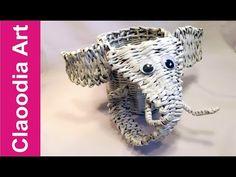 elephant, paper wicker - YouTube