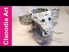 elephant, paper wicker - YouTube