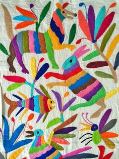 Otomi fabric from Mexico