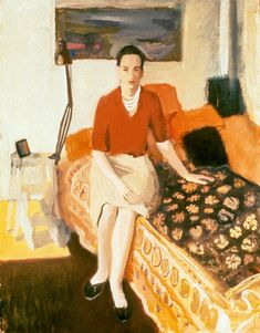 """Jane Wilson in Red, 1957,"" by Fairfield Porter."