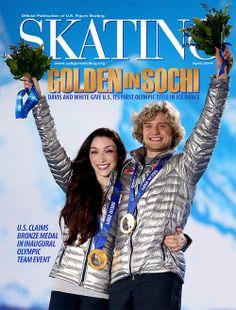 Meryl and Charlie:  Skating April 2014 cover girl and boy