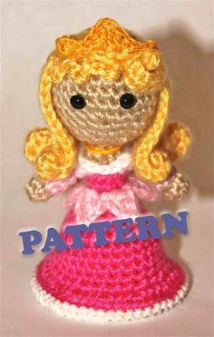 PATTERN Aurora Sleeping Beauty Princess Crochet Doll by Sahrit, $4.95