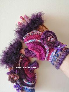 Fingerless Gloves, Arm Warmers, Wool, Crochet Ideas, Accessories, Gloves, Caps Hats, Fingerless Mitts, Fingerless Mittens