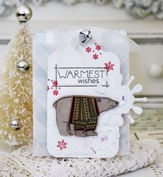 Warmest Wishes Pocket Tag by Melissa Phillips for Papertrey Ink (October 2015)