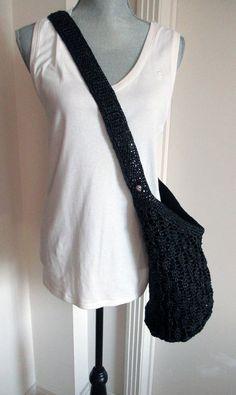 Helen Kaminski Charcoal Bucket Hobo Cossbody Raffia Crochet Shoulder Bag NWT #HelenKaminski #ShoulderBag