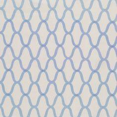 Trellis in Blue | Laura Lienhard Textiles #fabric #linen #blue