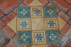 Julia Morgan tiles from Hearst Castle