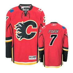 Calgary Flames Adam Pardy 7 Red Authentic Jersey Sale