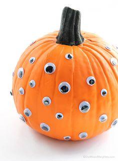 6 Cute Kid-Friendly Ways to Decorate Halloween Pumpkins | Kitchn Mini Pumpkins, White Pumpkins, Painted Pumpkins, Fall Pumpkins, Painted Halloween Pumpkins, Pumpkin Uses, A Pumpkin, Pumpkin Carving, Pumpkin Painting