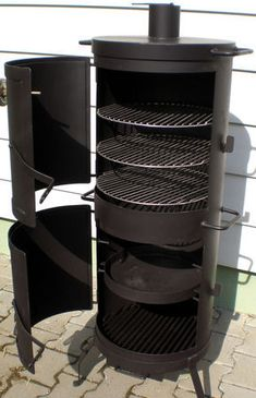 outdoor metal fireplace - Google Search