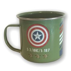 Marvel Captain America Vintage Military Army Enamel Mug - BB Designs - Captain America - Mugs at Entertainment Earth