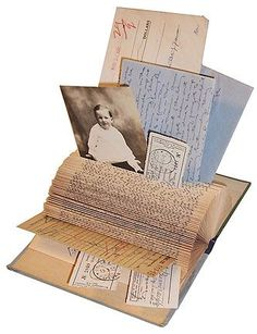 Altered book family history display ~ an easy to craft family history idea for your home.