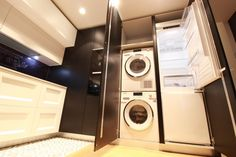 Stacked Washer Dryer, Washer And Dryer, Apartment Design, Interior Architecture, Laundry, Home Appliances, Madrid, Google, Kitchens