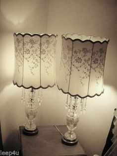 Vintage crystal glass table lamps 100 will bequeath vintage joking hazard vintage 1950s lead crystal table lamps mozeypictures Gallery