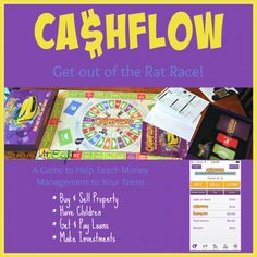Teaching Money Management for Teens is made easier using the CASHFLOW Board Game.