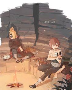 Sasori and Deidara Naruto Uzumaki, Anime Naruto, Gaara, Sasori And Deidara, Comic Naruto, Kakashi, Anime Manga, Akatsuki, Anime English