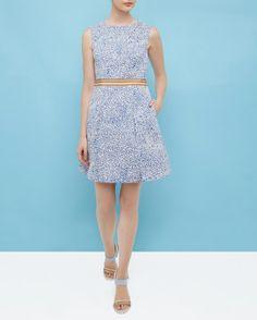 Fish print dress