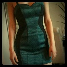 All Saints Dress Never been worn (unfortunately it's too small for me), gorgeous All Saints Dress with beautiful detailing, luxurious fabrics in a deep green and black. All Saints Dresses Mini
