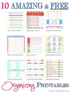 10 free organizing printables to organizing your life!
