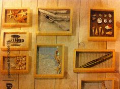 Take sand, shells, twigs, driftwood etc. as reminders of your vacation and place inside a shadow box.
