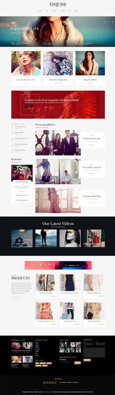 Oceanoid WordPress Theme | Minimal web design, Web design layouts ...
