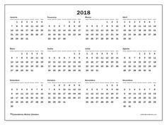 Livre! Calendários para  2018 para imprimir  - Brasil