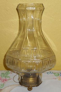 EAPG US GLASS TURKEY FOOT Claw aka Plume pattern Oil Lamp | EAPG ...