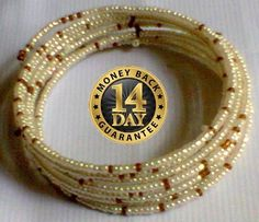 Cream Masai spiral wire flexible beads bracelet