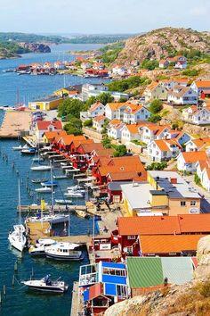 Fjällbacka, Sweden pinned with Pinvolve