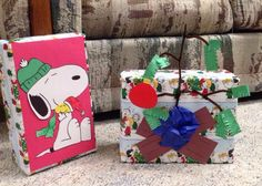 """My """"unique"""" Christmas wrapping :)"""