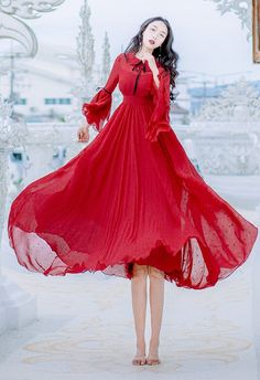 boutique-burgundy-summer-maxi-dress-peter-pan-Collar-Petal-Sleeve-floor-length-dress-floral-large-hem-beach-dress
