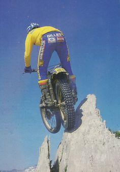 Motos Trial, Yamaha 250, Guy Martin, Rally Raid, Trial Bike, Mechanical Art, Vintage Motocross, Pedal Cars, Dirtbikes