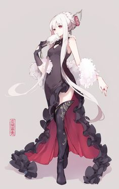 Anime pictures and wallpapers search Kawaii Anime Girl, Anime Art Girl, Manga Girl, Anime Girls, Red Hair Girl Anime, Blue Anime, Fantasy Character Design, Character Design Inspiration, Character Art