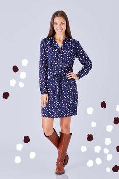 Pheonix Relaxed Shirt Dress Flurry - That Bird Label